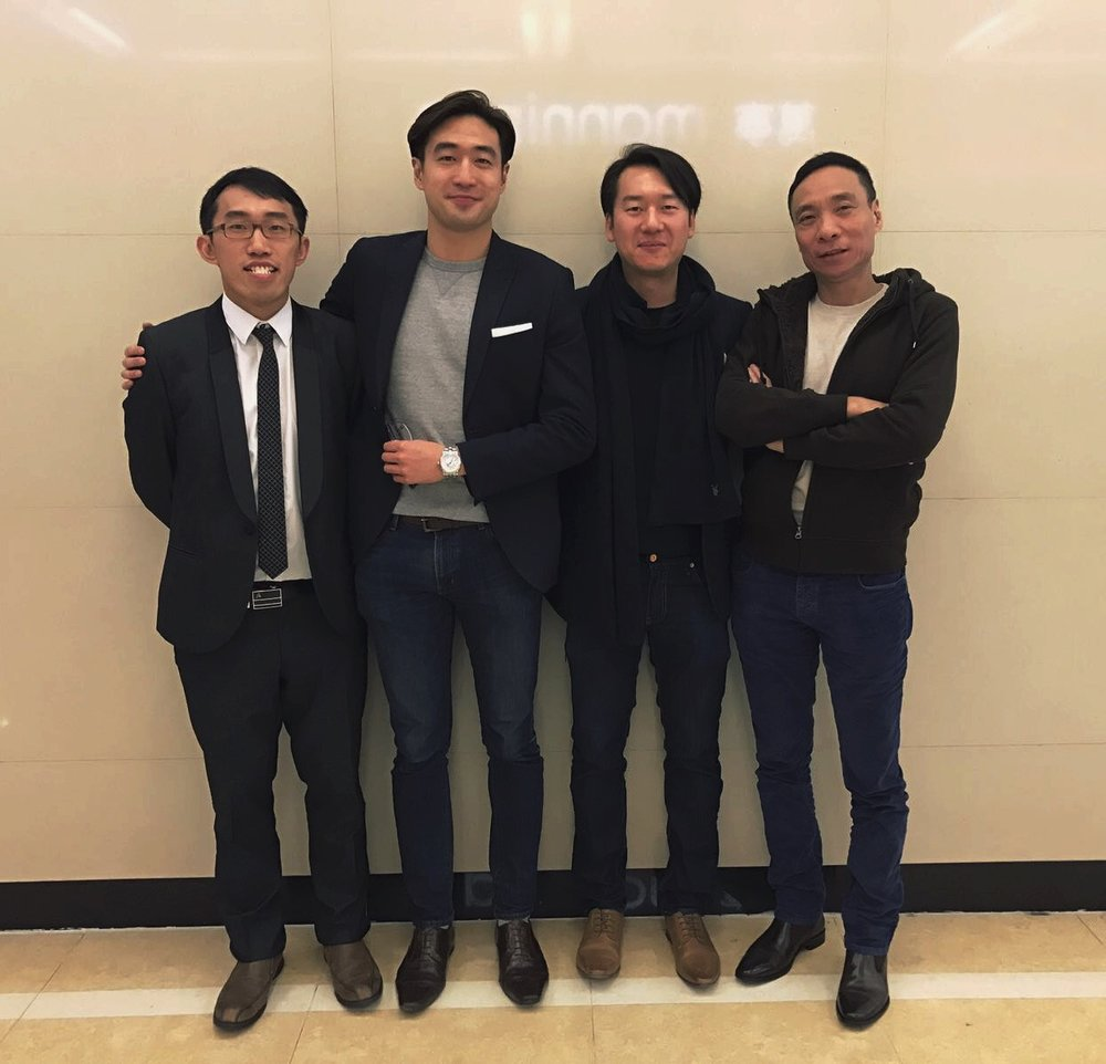 Meeting in Hong Kong December 2016  From left to right: Dr Ngan, Dr Leung, Dr Man and Simon