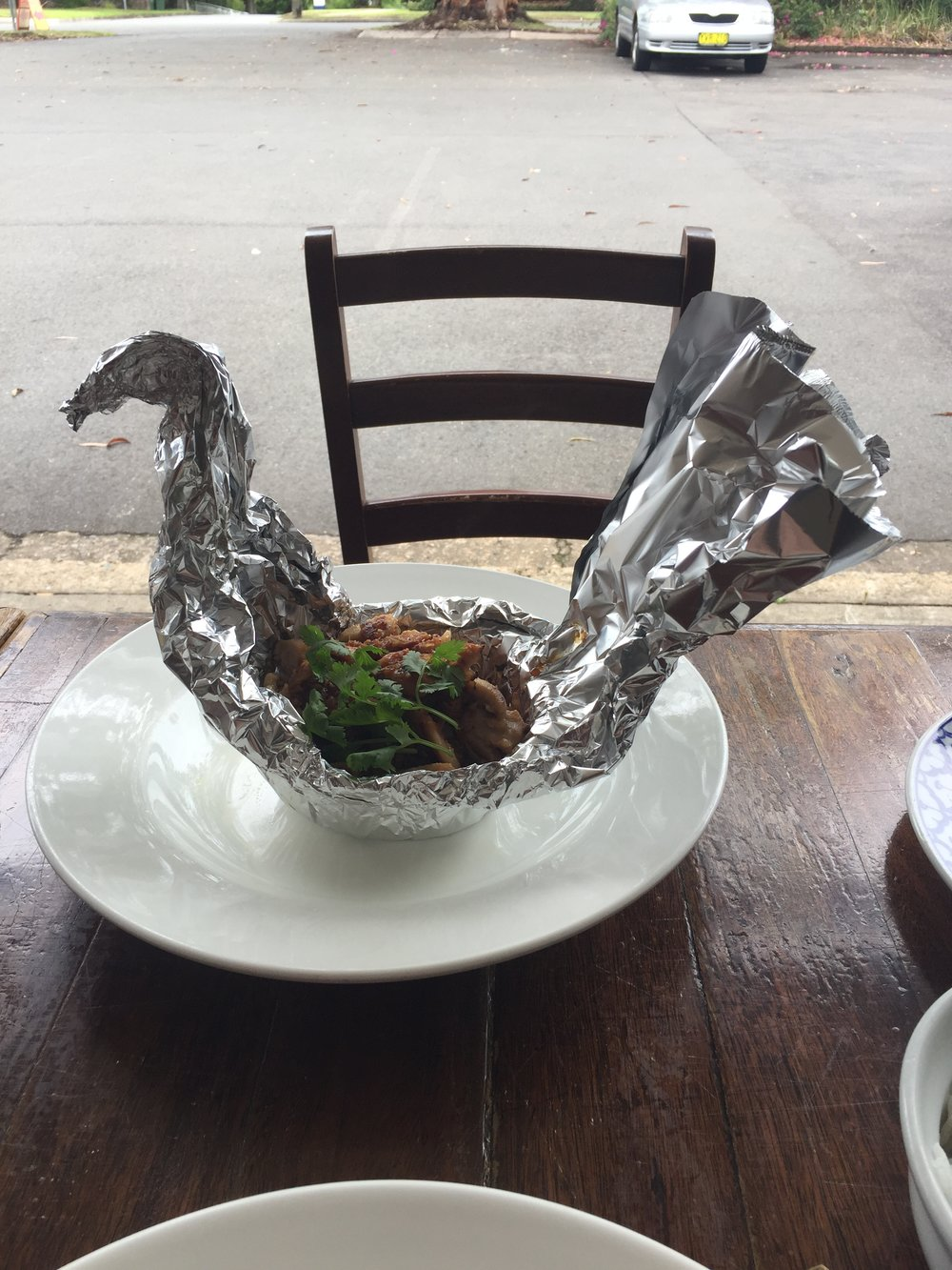 Volcanic Chicken, to go with my mood.