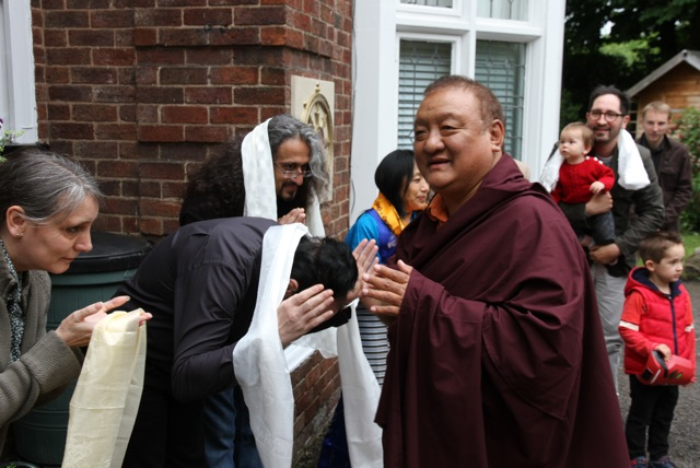HE SR is greeted by Sangha members at Kagyu Ling (6)