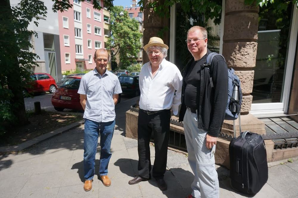 Lama Jampa with Erich, the translator, and Gunnar, president of DBU (German Buddhist Union) who came to Stuttgart for the weekend with Lama Jampa.