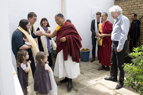 His Holiness Sakya Trizin visits the centre in St. Luke's Road, 2010