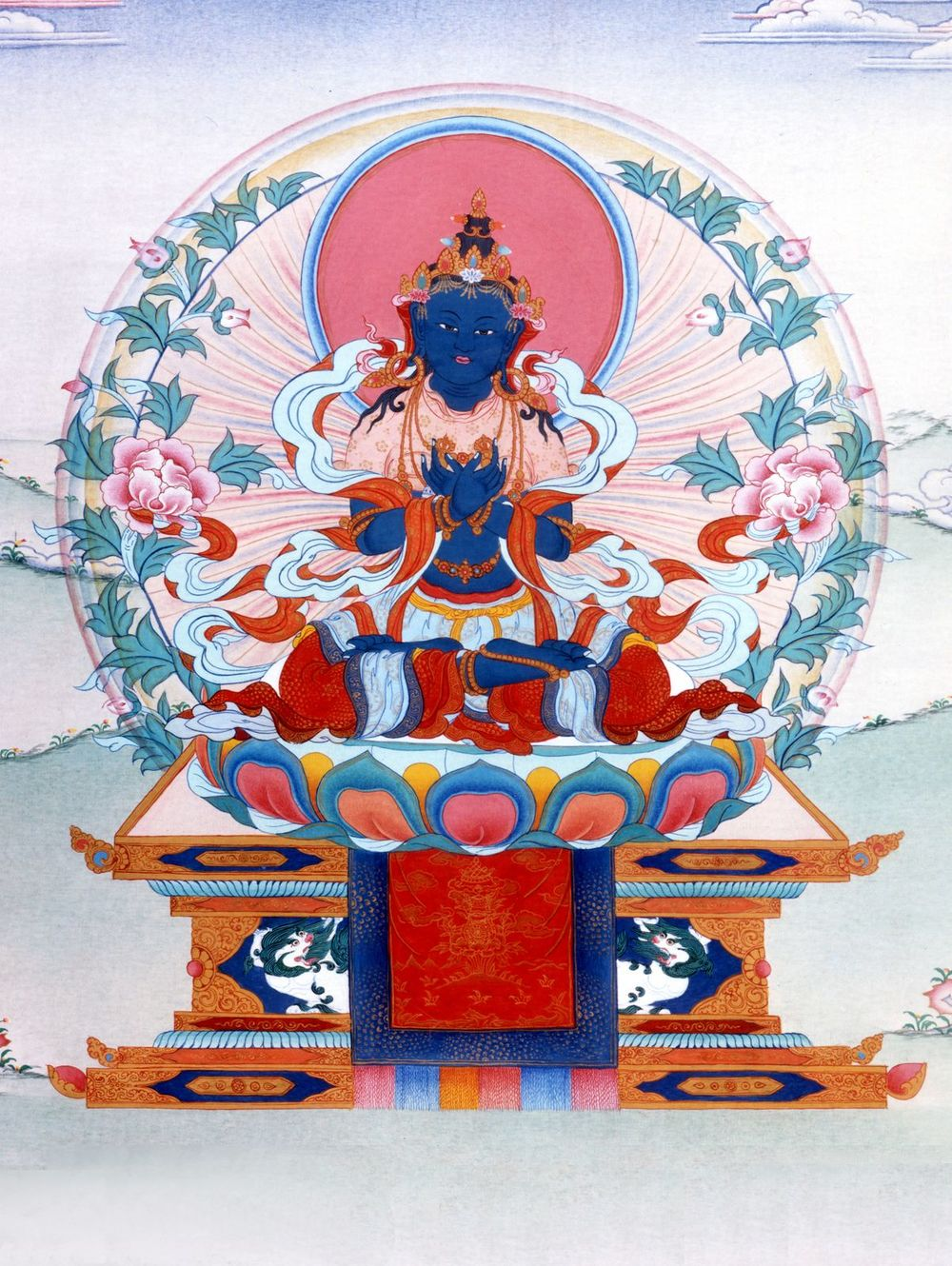 Buddha Vajradhara to whose transcendental state the deity yoga practitioner aspires