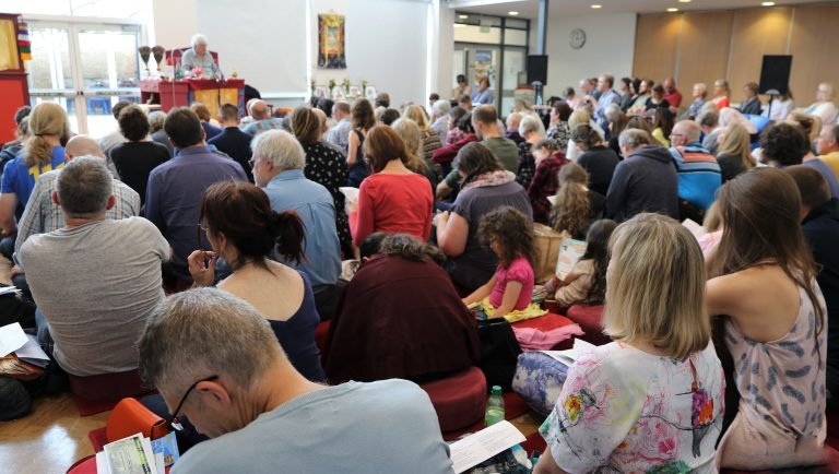 Students receive teachings in Harrogate on Milarepa's Song of the Middle Way