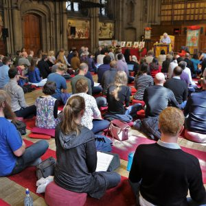 Receiving teachings on the Kagyu view of Zhentong in Manchester