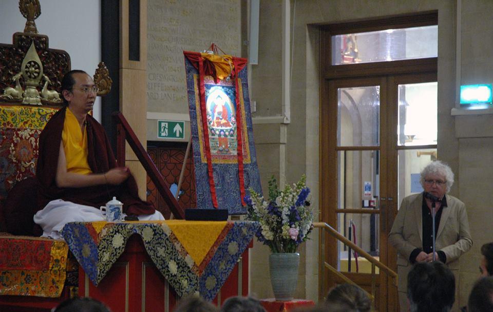 Lama Jampa Thaye introducing His Holiness