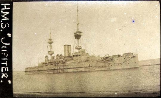 HMS JUPITER SUEZ CANAL 1916