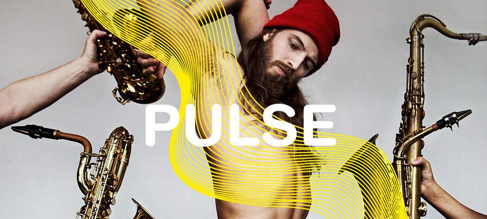 We zijn los met PULSE. Saxofoonkwartet  Artvark  speelt, Frank Wienk ( Binkbeats ) componeert, en wij zorgen voor decor, visuals en natuurlijk dans.