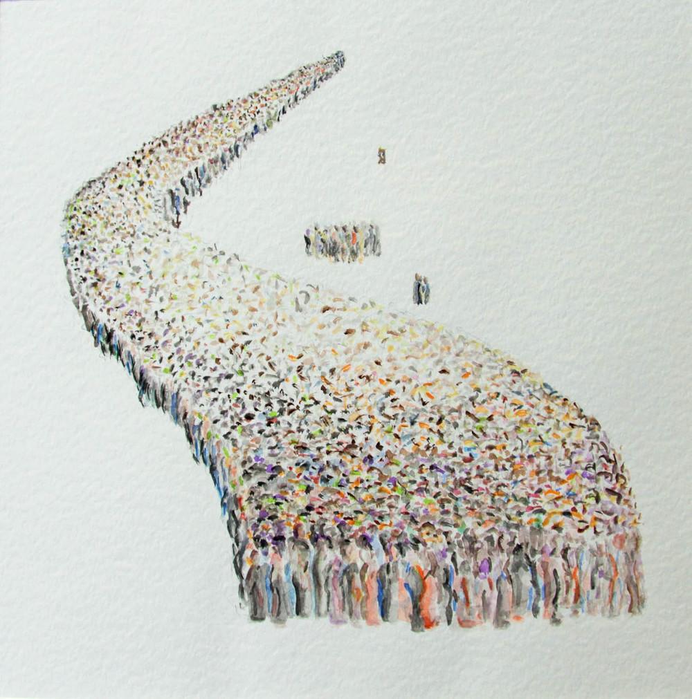 Menschenschlange