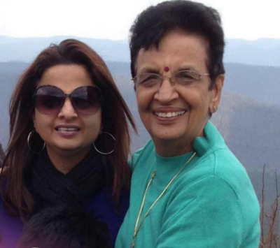 Suparna and her mom, Sudesh, on a trip to Arkansas.