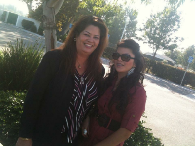 Ashley with her mom Loretta at a family wedding in California.