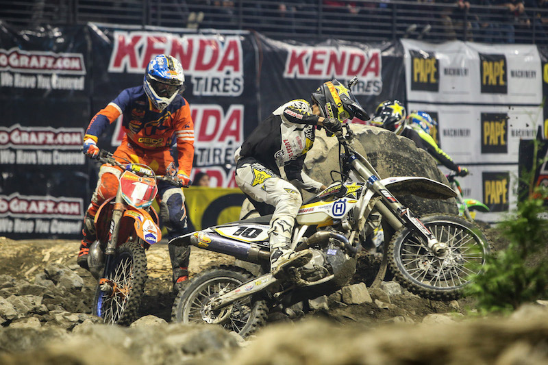 Colton Haaker (10) and Cody Webb (1) will bring their head-to-head championship battle to the Idaho EnduroCross this weekend. Photo: Drew Ruiz.