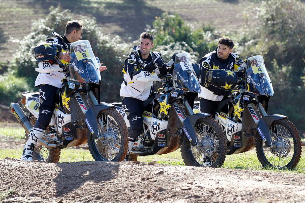 2016 Rockstar Energy Husqvarna Factory Rally Team. Photo: Courtesy of Rockstar Energy Husqvarna