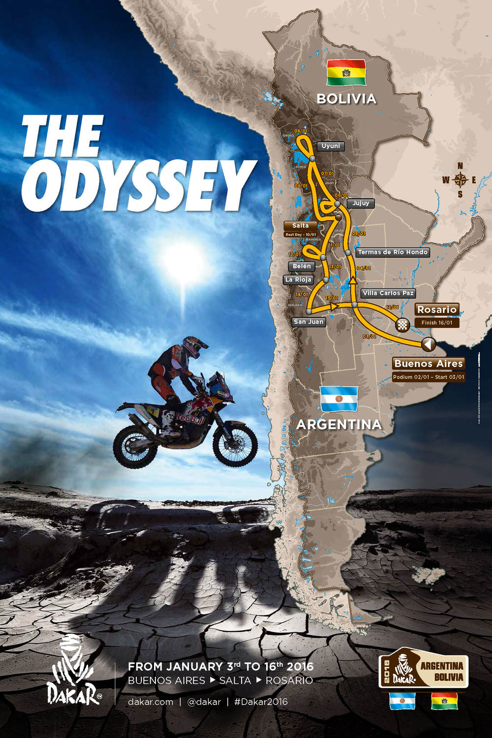Dakar Rally Route 2016