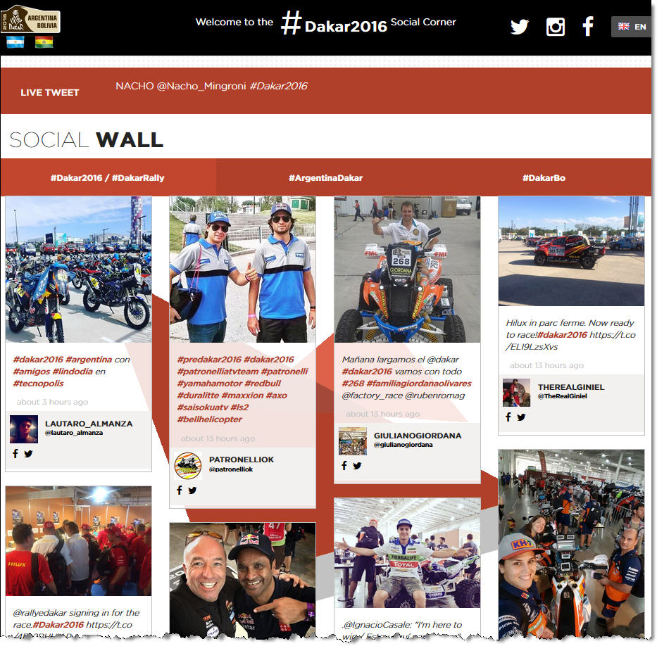 Click to View Dakar Social Wall