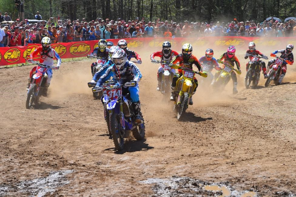 The XC1 Pro class put on quite a show for the Morganton, North Carolina GNCC fans. Photo: Ken Hill.