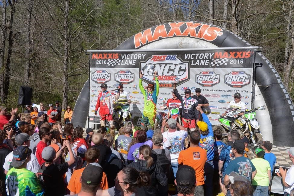 XC2 Pro Lites Podium: (2) Layne Michael (1) Trevor Bollinger (3) Craig Delong. Photo: Ken Hill.