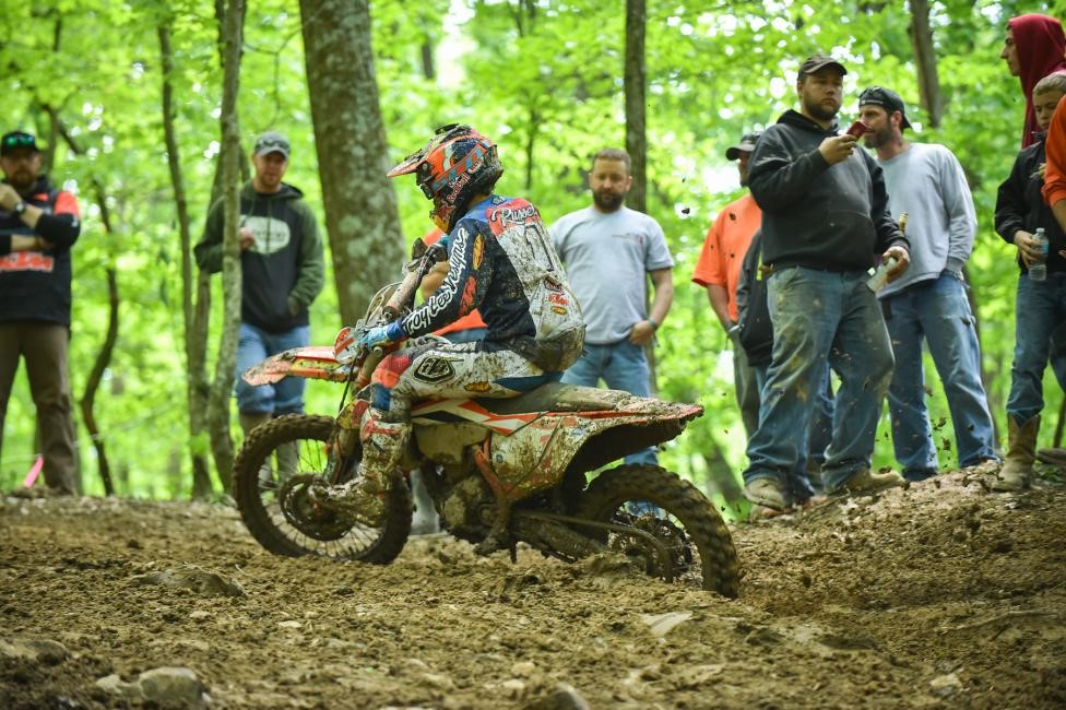 Kailub Russell made it four-in-a-row with the Limestone 100 GNCC victory. Photo: Ken Hill.