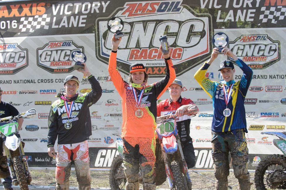 XC2 Pro Lites Podium: (2) Craig Delong, (1) Trevor Bollinger, (3) Benjamin Kelley. Photo: Ken Hill.