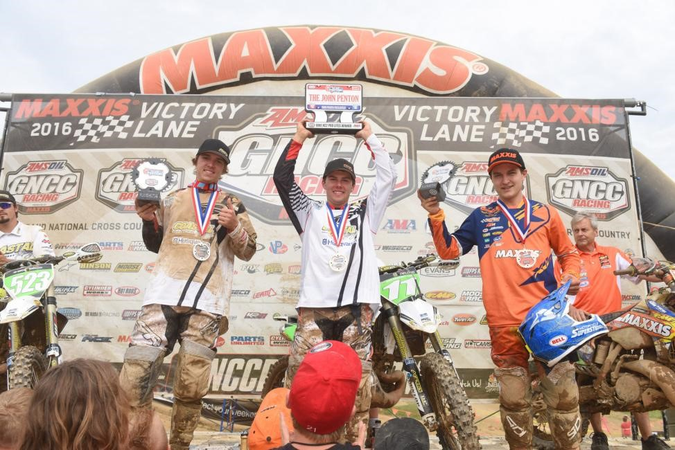 XC2 Pro Lites Podium: (2) Layne Michael, (1) Craig Delong, (3) Mike Witkowski. Photo: Ken Hill.