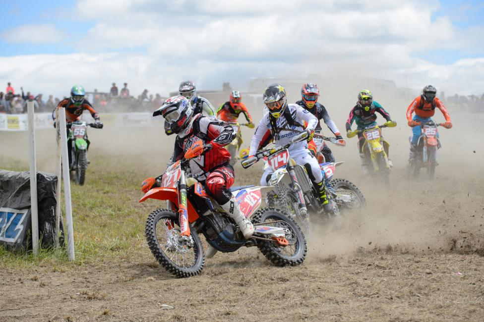 Cory Buttrick jumped out to the early lead claiming the $250 All Balls Racing Holeshot Award. Photo: Ken Hill.