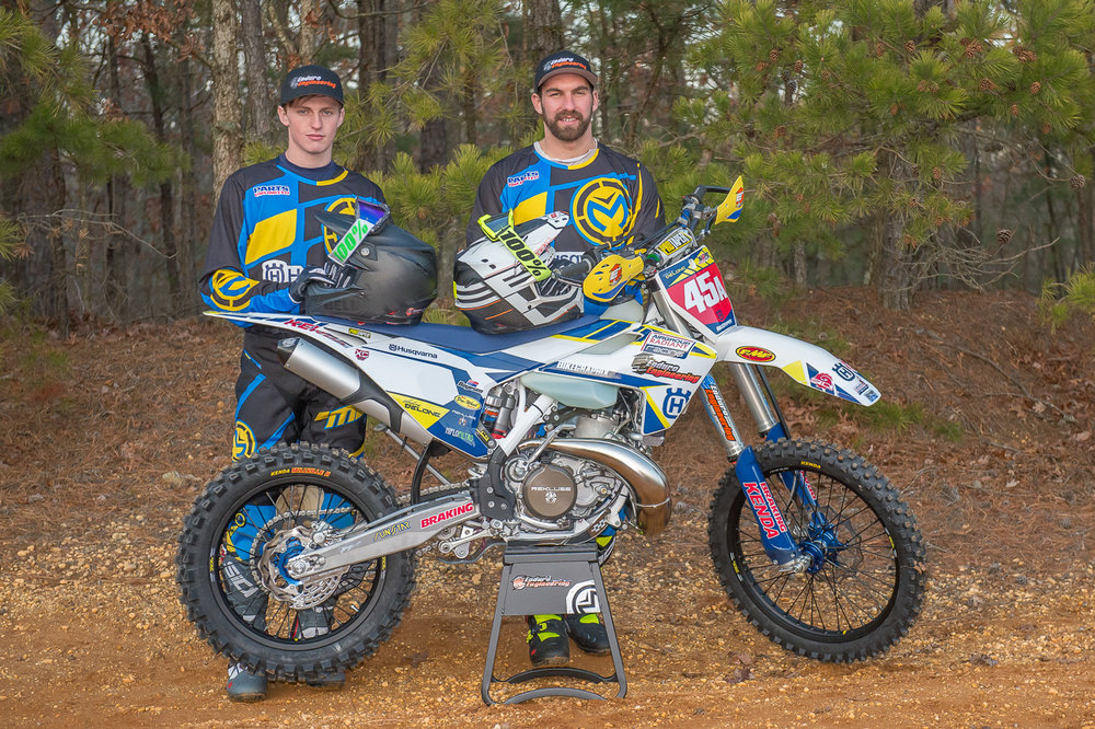Airgroup/Enduro Engineering Husqvarna Racing will field a two-rider team in 2017 consisting of Expert-AA rider Thorn Devlin (left) and 2014 NEPG champion Andrew Delong (right).
