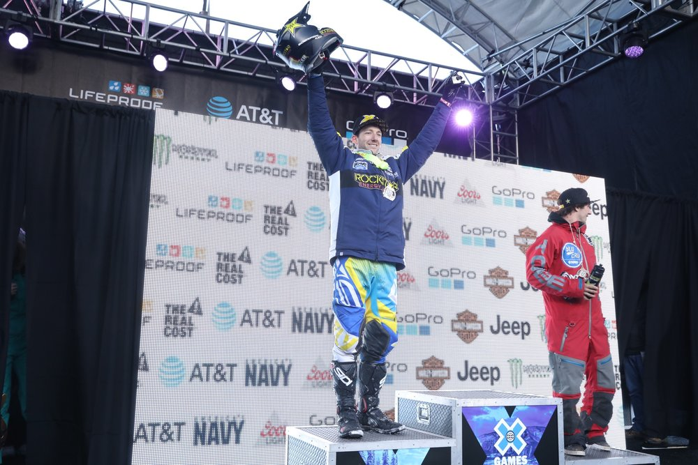 Colton Haaker earns a Silver Medal at the 2017 Winter X-Games. Photo by: Shelby Mahon