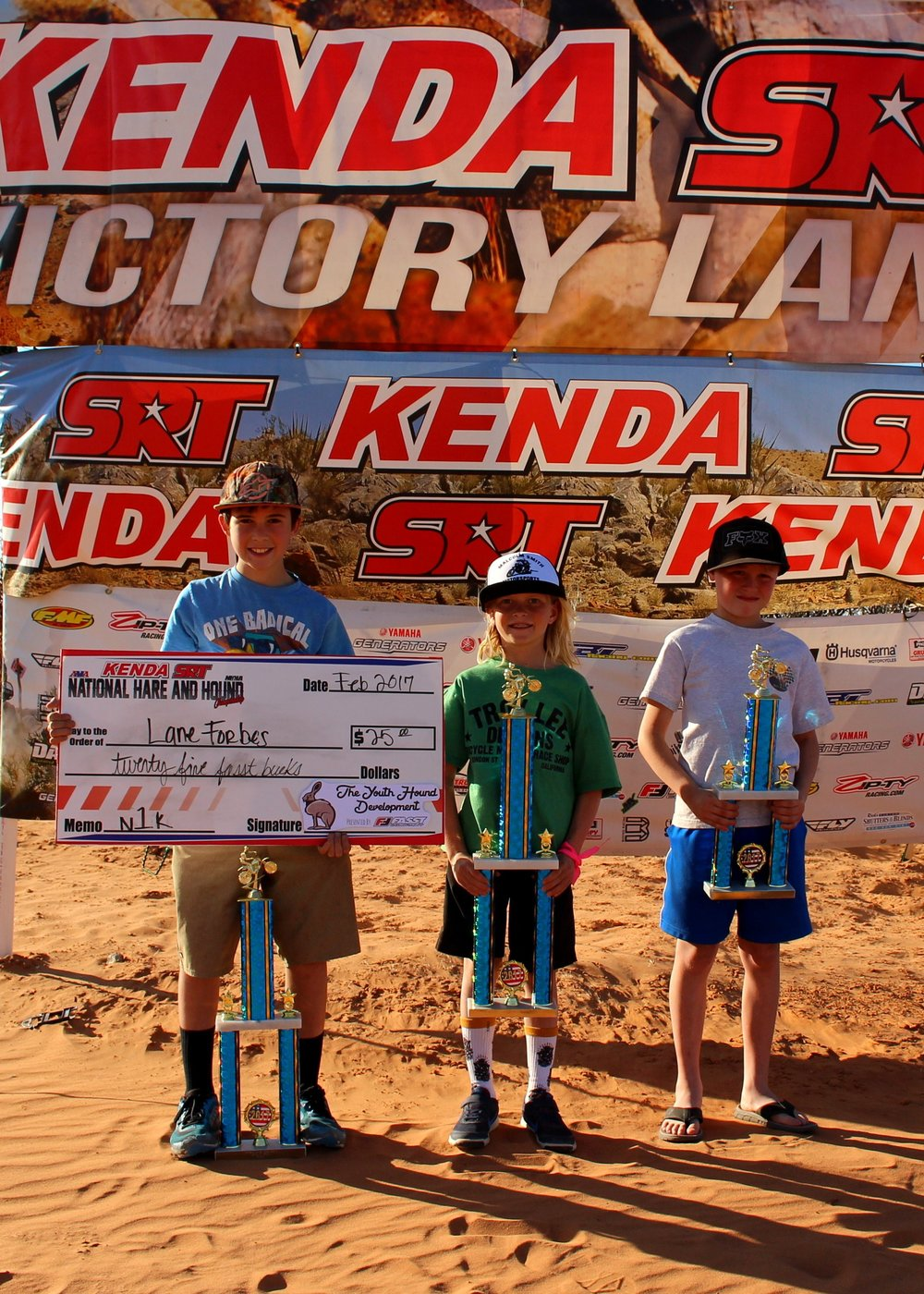 Photo: Kim Lessing. Left to Right- Lane Forbes 2nd, Jett Lessing 1st, Ruffin Dodson 3rd.