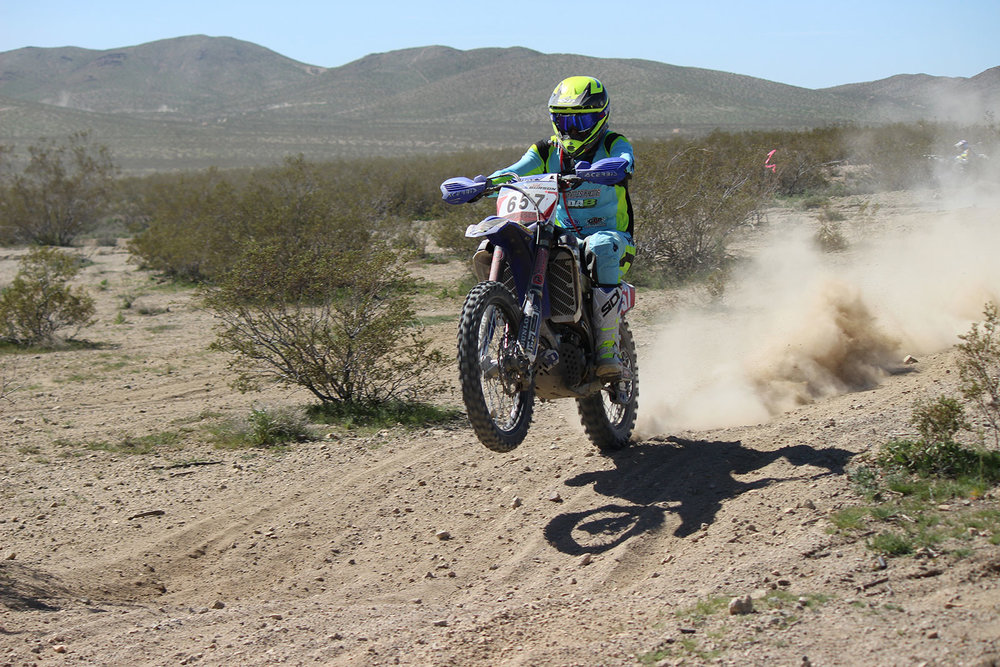 Nick Burson won day one on his Purvines/DA8 Yamaha.