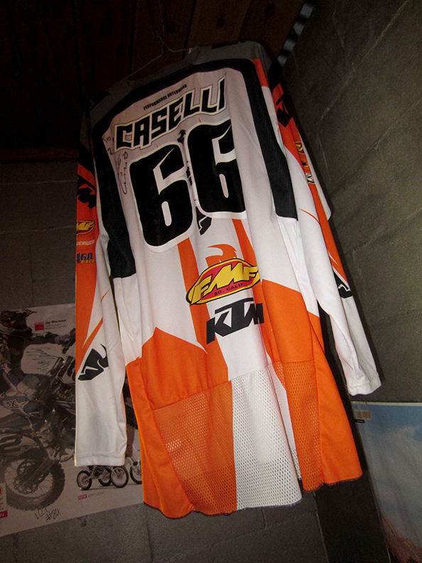 The Caselli jersey that still hangs in the same spot Zeke put it.