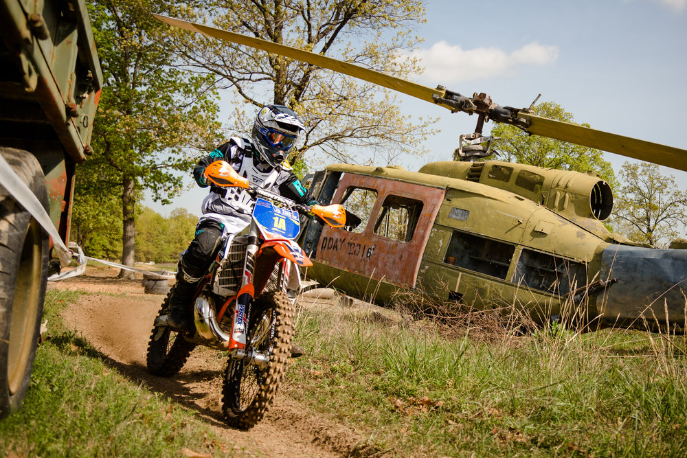 Not only does Steve Leivan race off-road motorcycles, he also helps promote off-road events. Photo:Robin Nordmeyer.