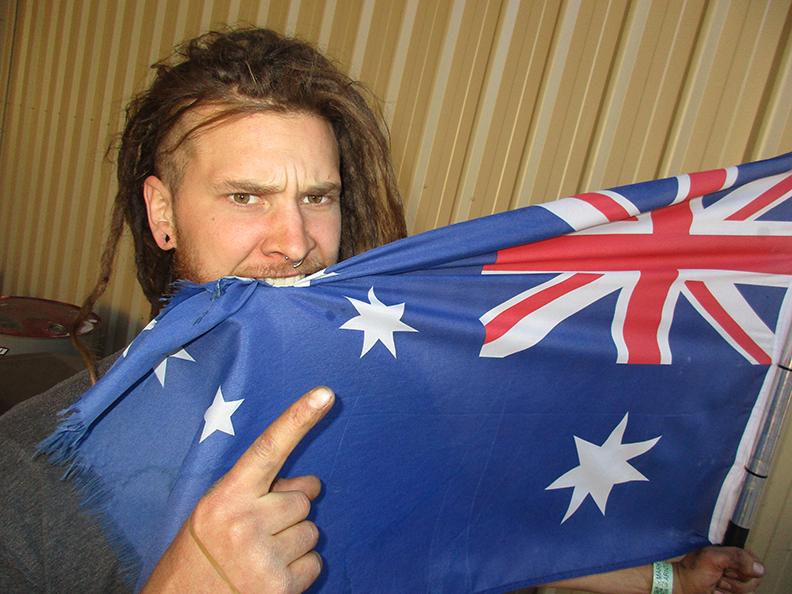 """Aussie Aussie Aussie, Oi Oi Oi"" Photo: Jerry Bernardo."