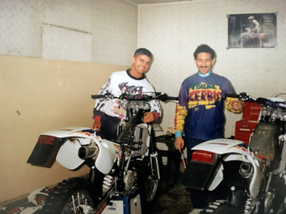 Circa 1995 World Enduro with Alfie Cox from South Africa. Photo: Shane Watts.