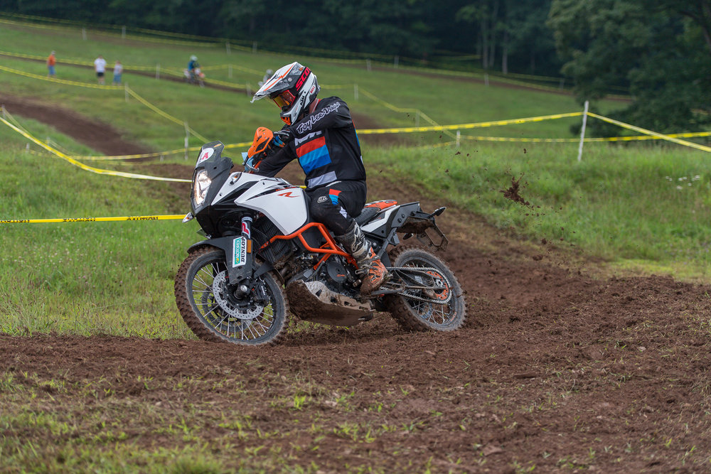 Eight-time National Enduro champion Mike Lafferty raced a KTM 1090R Adventure bike to 19th place in the Pro division. Photo: Shan Moore.