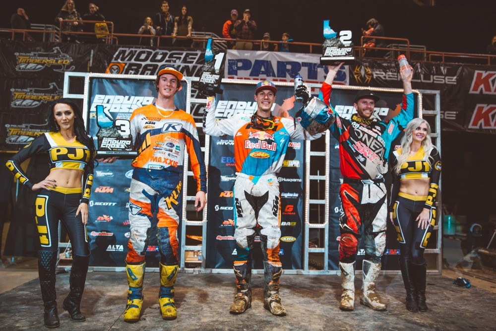 Webb (center), Graffunder (right) and Tremaine took the Boise Podium. Photo: Tanner Yeager.