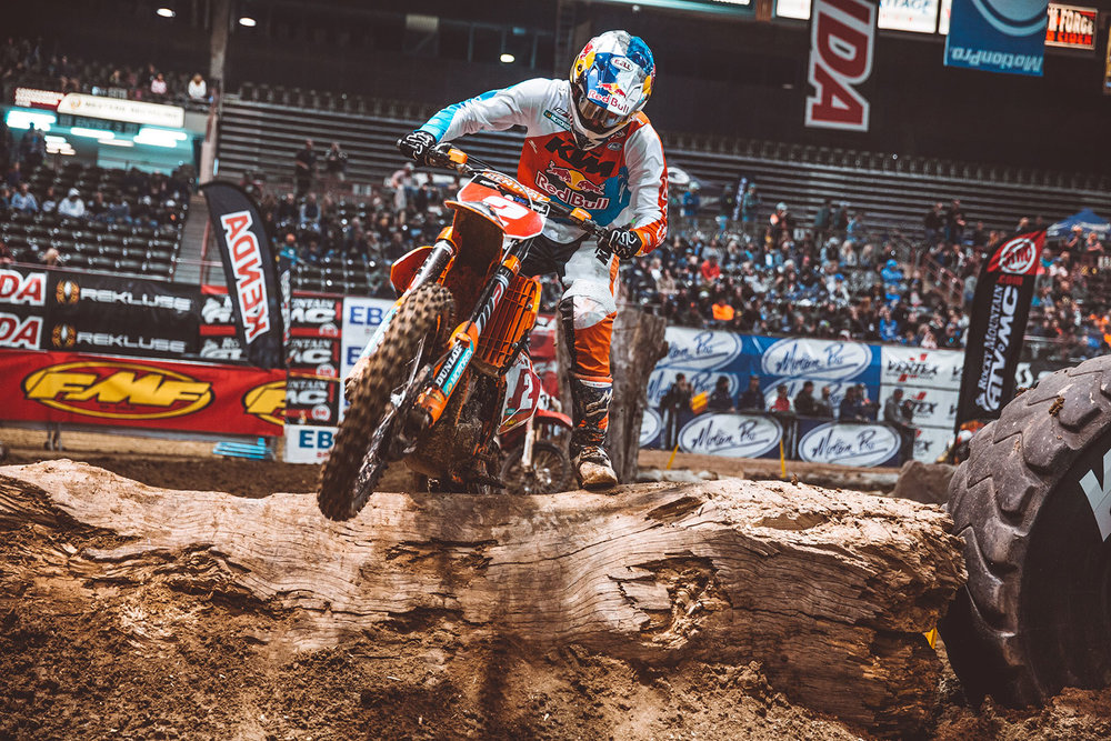Webb came into the 2017 EnduroCross season focused on a third title. Photo: Tanner Yeager.