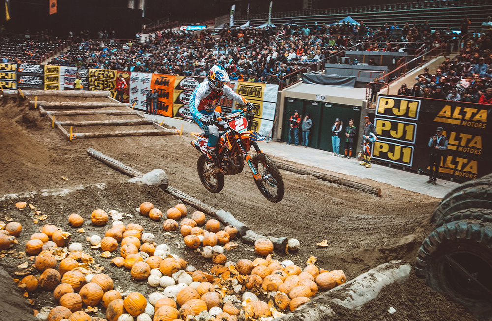 Webb hopes to return to the SuperEnduro series this year after EnduroCross ends. Photo: Tanner Yeager.