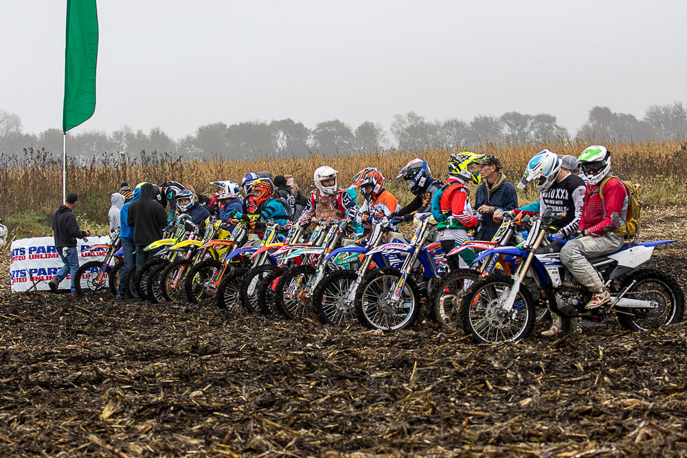 Riders line up for the start of the 42nd Moose Run. John Gasso photo.