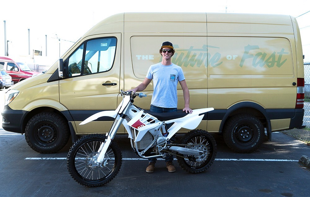 Ty Tremaine may be the first factory-backed electric bike offroad racer after signing with Alta. Photo: Alta Motors.