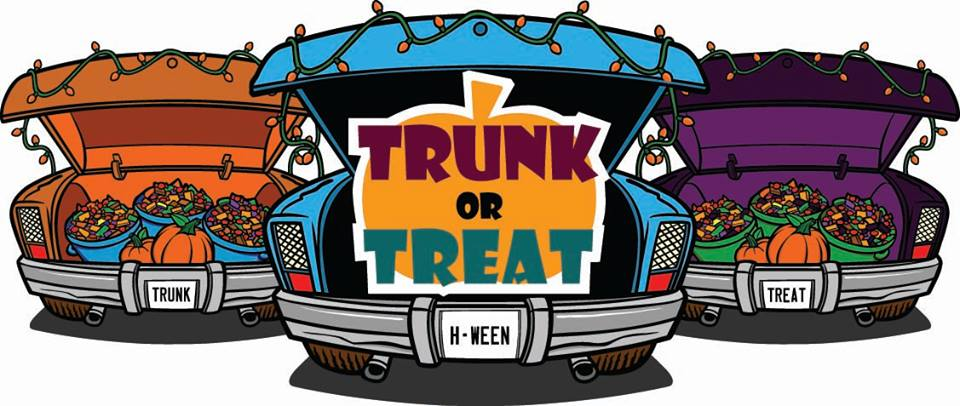 Set-up for Trunk or Treat — Community Lutheran Church