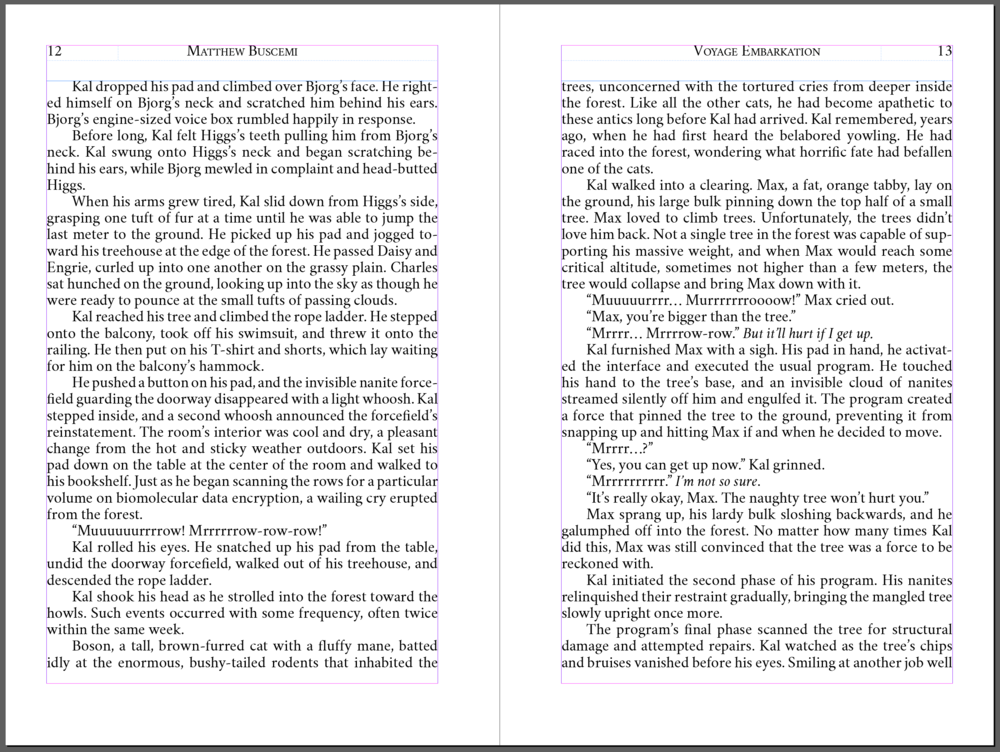 "Example spread from ""Voyage: Embarkation"" first edition hardcover Text excerpts Copyright © Matthew Buscemi 2013"