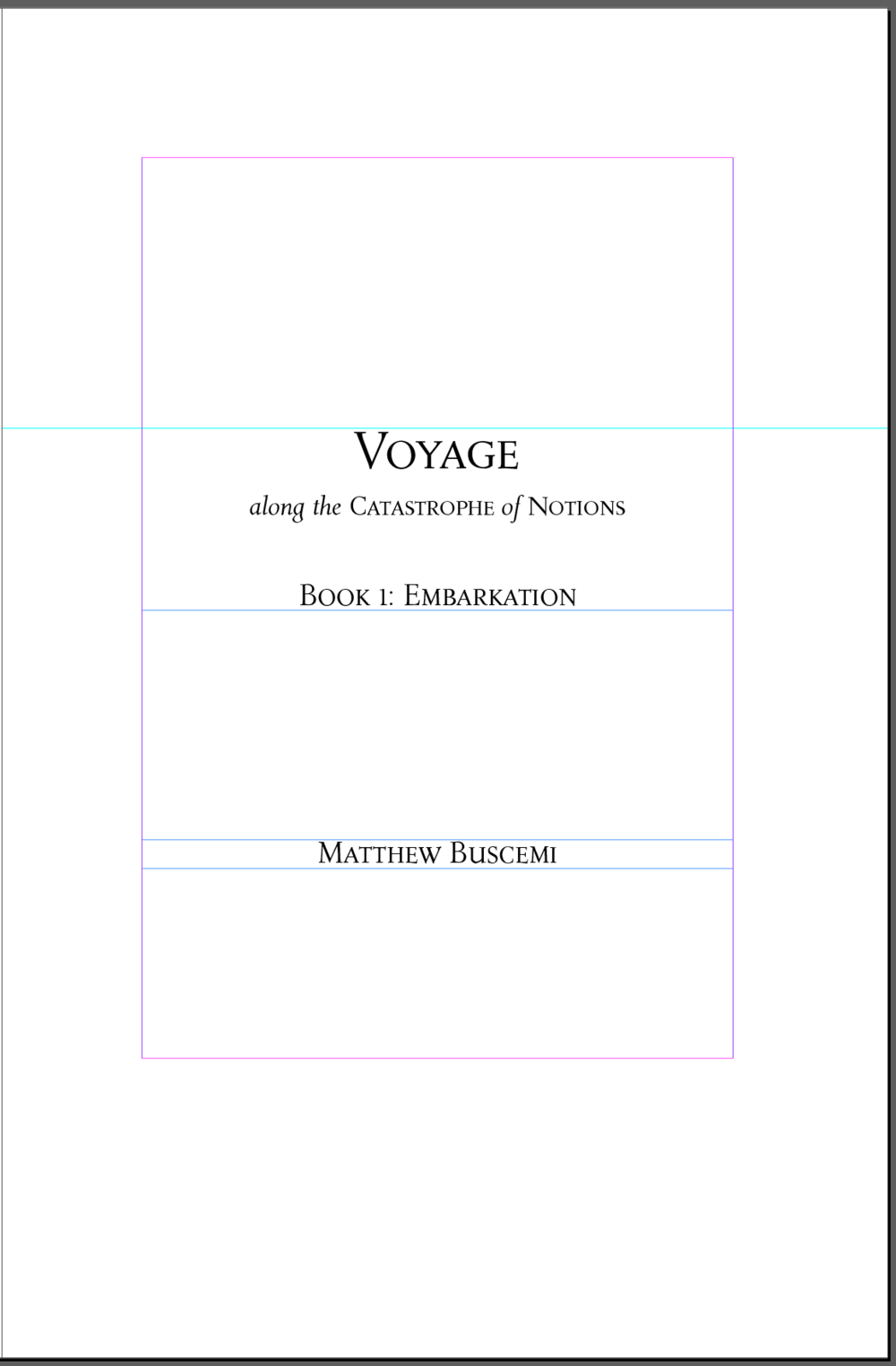 Voyage Embarkation Title Page