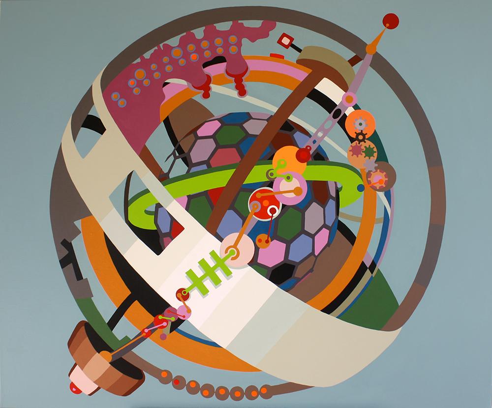 "Perpetuum Mobile serie B 002-2014"", Akryl på lerret, 120x100cm, 2014"