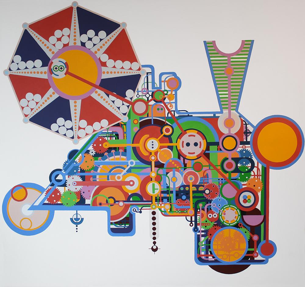 "Perpetuum Mobile serie B 003-2014"", Akryl på lerret, 160x170cm, 2014"