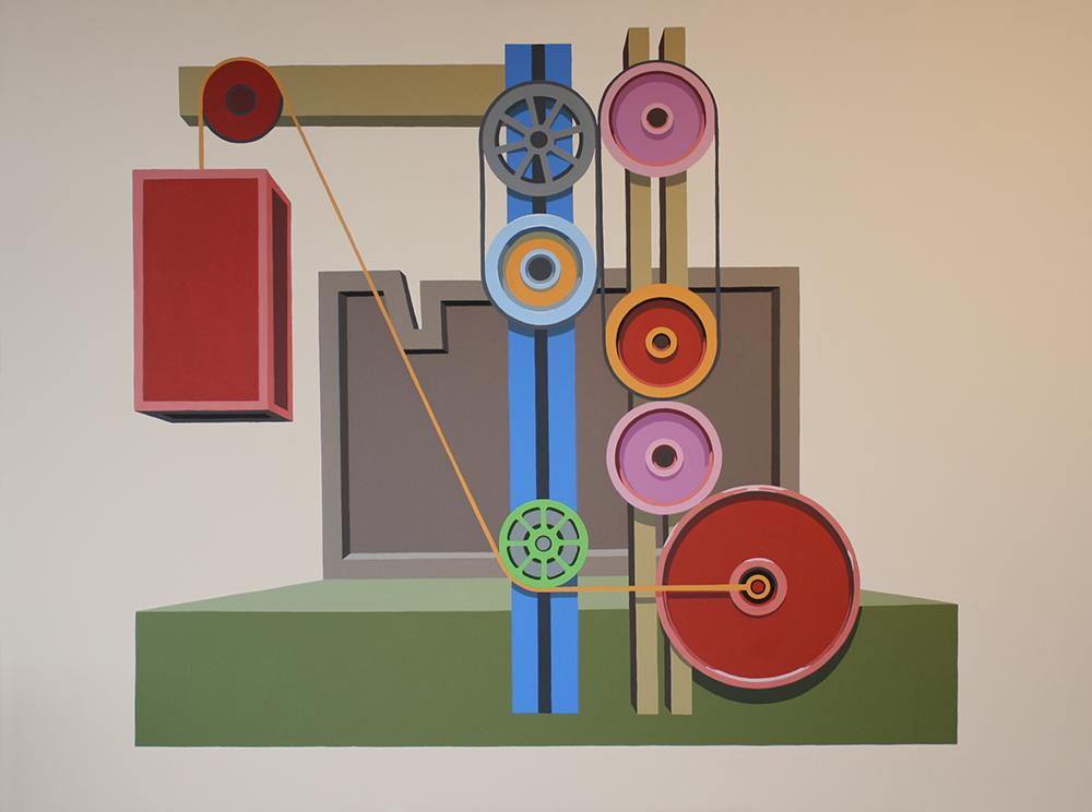 "Perpetuum Mobile serie B 007-2014-For Paul Scheerbart"", Akryl på lerret, 150x200cm, 2014"