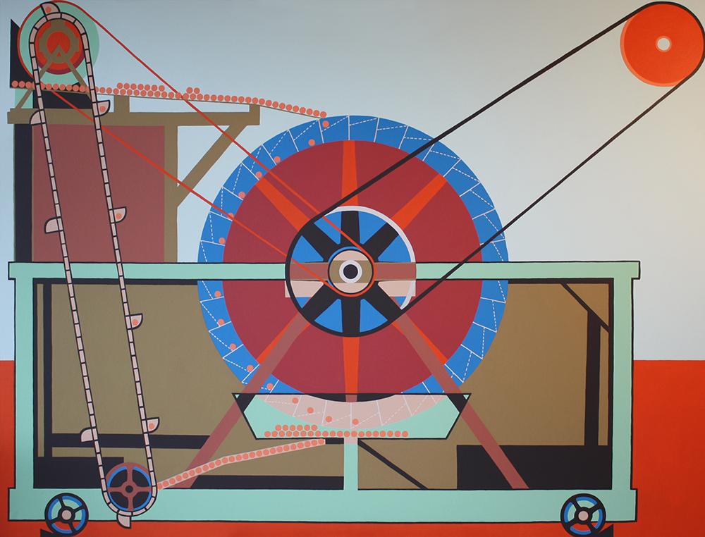 "Perpetuum Mobile serie B 010-2015"", Akryl på lerret, 150x200cm, 2015"
