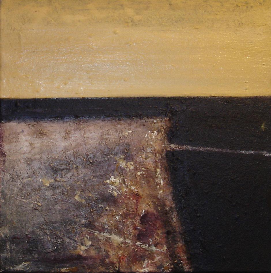 Alnes studie 25 x 25 cm Maleri