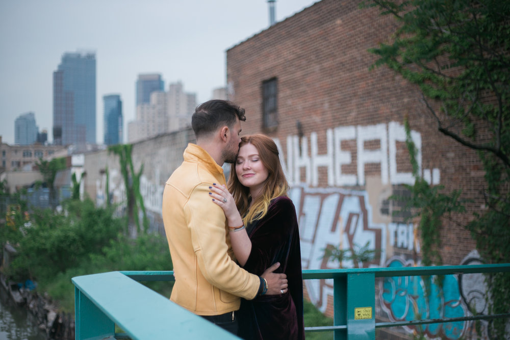 Kate-Alison-Photography-Gowanus-Brooklyn-Tattoo-Shop-Engagement-Session