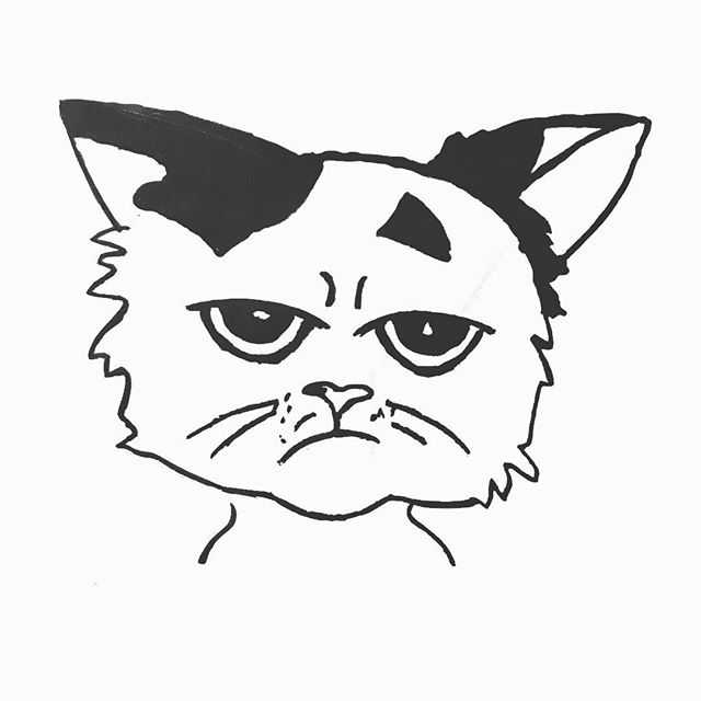 Not to be all cool or anything, but my meowmy is making me something really furtastic that some of you cute fur kitties of the world might want for yourself. I can't wait to show you. 🐾 ❤️ — — — — #furtastic #catart #catillustrations #imnotgrumpycat #thisismyhappyface #captionthis #catsofig #cataofinstagram🐾 #pawfive