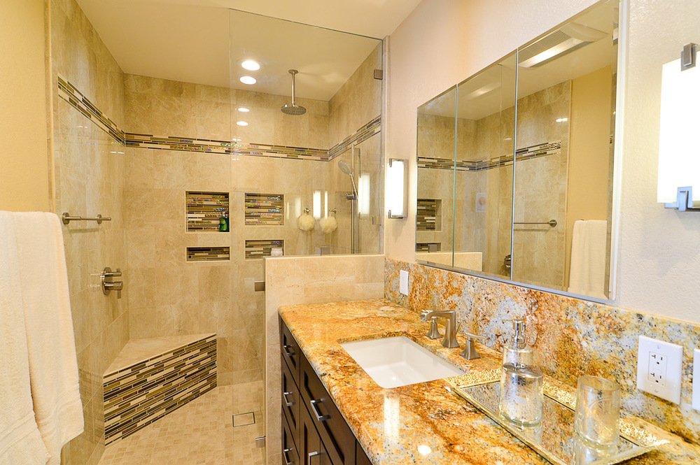 Poway Open Shower Master Bath
