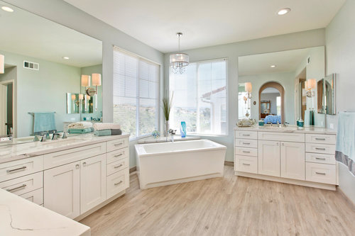 Luxurious White Shaker Master Bath
